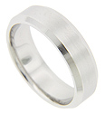 Angled edges set this palladium antique style men's wedding ring apart from the others