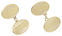 Diamond patterning ornaments these 9K yellow gold antique cuff links