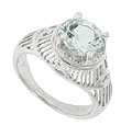 Repeating radiating links make up the mounting of this platinum Art Deco engagement ring