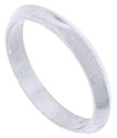 This simple and modern 14K white gold mens wedding band features a pointed center that angles sharply to the rings edges