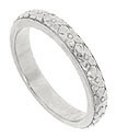 Repeating patterns of forget-me-not wrap around this Art Deco 18K white gold wedding band