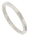 This delicate antique style wedding band is crafted from the original antique ring in platinum metal