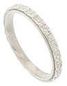 This 18K white gold antique style wedding band is crafted from the original antique ring