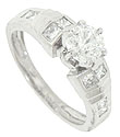 A spectacular EGL certified, .71 carat, D color, Si1 clarity round diamond lights the center of this platinum antique style engagement ring