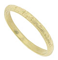 This 14K yellow gold antique style wedding band is fashioned from the original antique ring