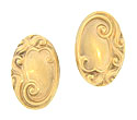 These elegant Art Nouveau cufflinks are fashioned of 14K yellow gold and decorated with an elaborate array of curling organic figures