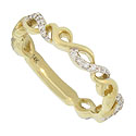 This antique style wedding band features open twisting vines of 14K yellow gold intertwined with diamond frosted vines