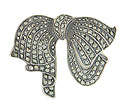This handsome sterling silver pin is fashioned in the shape of a large bow and set with rows of sparkling marcasite