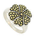 This fun and fabulous sterling silver ring is fashioned in the shape of a perky flower