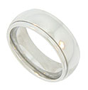 Smoothly polished, this 14K white gold modern men's wedding band can be ordered in a variety of widths and sizes