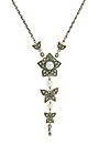 A cultured pearl is set in the center of a five petal flower on this lovely sterling silver and marcasite necklace