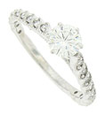 This sparkling 14K white gold engagement ring features a fiery .62 carat, G color, Vs2 clarity diamond