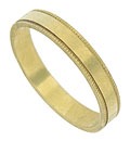 This 18K yellow gold wedding band is elegant simplicity at its best