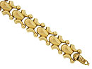 This exquisite estate bracelet is crafted of 18K yellow gold