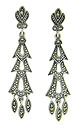 Marcasite and sterling silver have been used to craft these dangle earrings