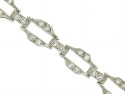 This spectacular Art Deco platinum bracelet is frosted with diamonds