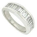 A domed face and bold polished surface add dimension to this elegant 14K white gold wedding band