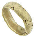 A ribbon of 14K yellow gold forms this handsome estate wedding band