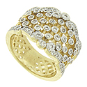 A golden trellis, punctuated with brilliant round cut diamond