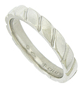 This handsome platinum mens wedding band is smoothly polished and features deep diagonal engraved channels