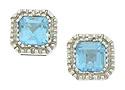 These elegant estate earrings feature fantastic sky blue aquamarine set into 14K white gold posts