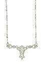 This breathtaking antique style necklace features a platinum diamond pendant