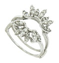 This spectacular 14K white gold engagement ring bracket features petals set with round cut diamonds
