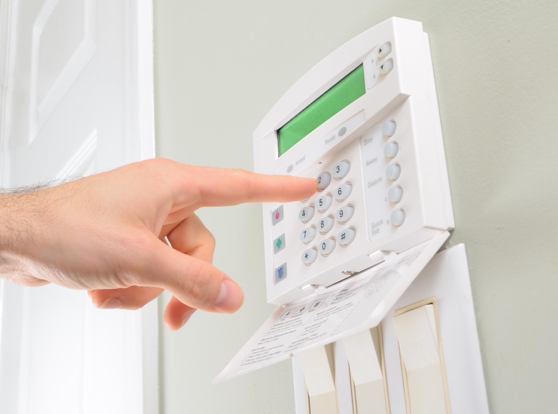 Home alarm keypad