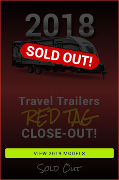 2018 Clearance Travel Trailers