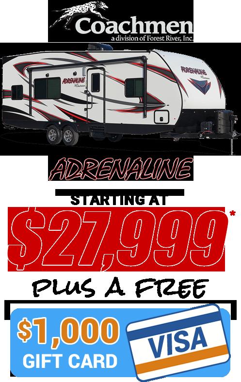 Coachmen Adrenaline Giftcard