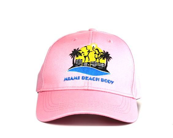 6d41b971154 Miami Beach Body All Cotton and brass buckle Baseball Cap - Pink color