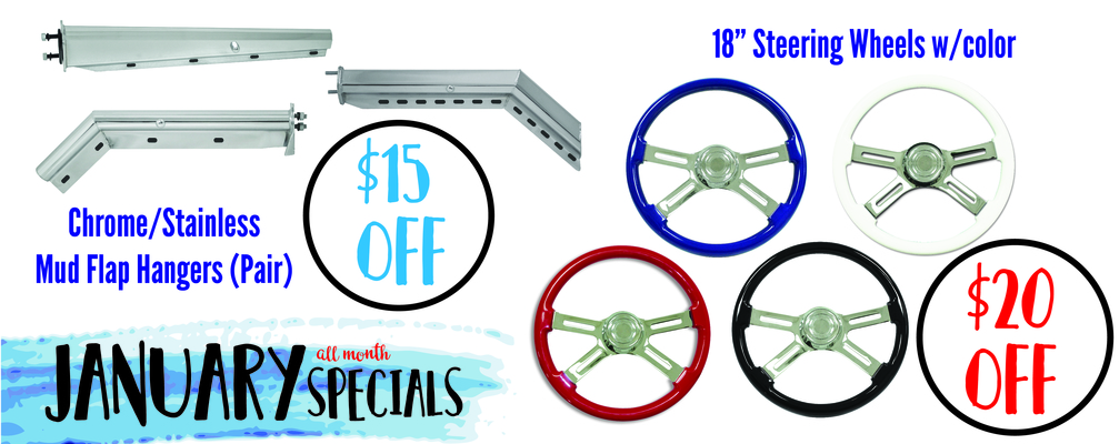 January Monthly Coupon - Steering & MudF Hangers