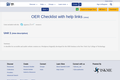 OER Checklist with help links