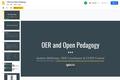 OER and Open Pedagogy