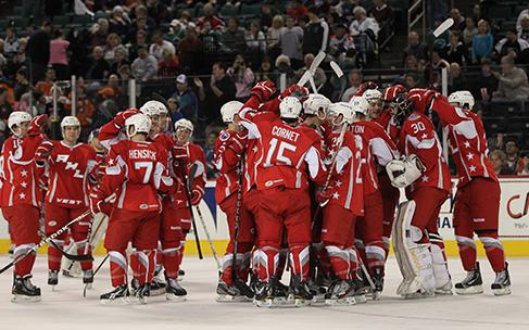 A photograph shows a hockey team.