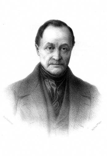 A portrait of August Comte.