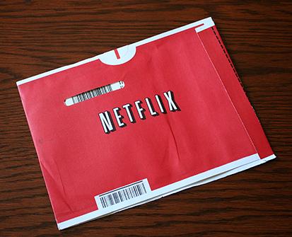 A photo of a Netflix DVD envelope