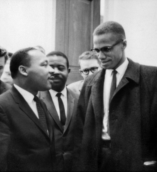 An image of Martin Luther King, Jr. and Malcom X.