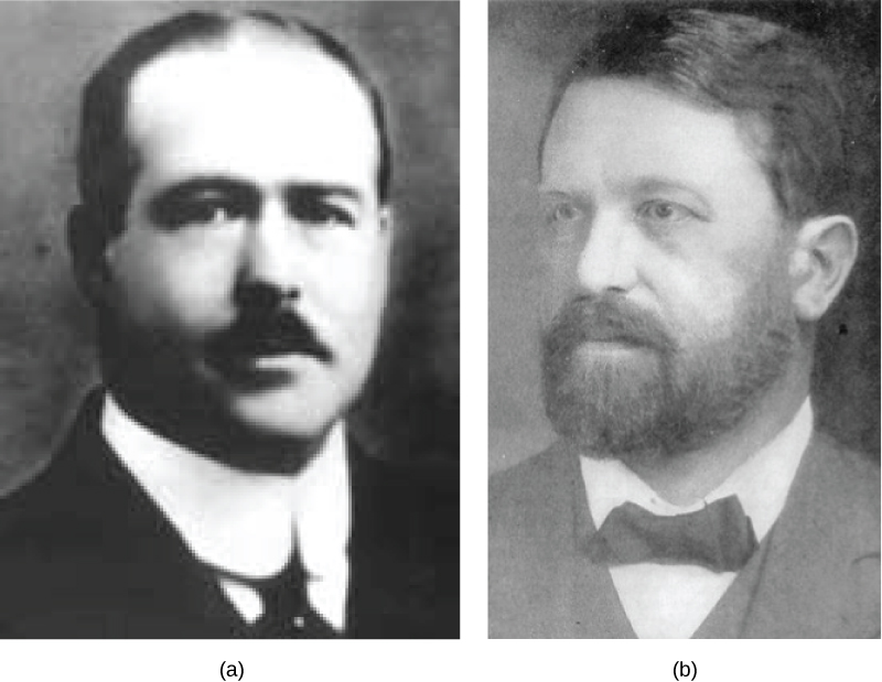 Part a is a photo of Walter Sutton. Part b is a photo of Theodor Boveri.