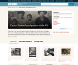 Early Chinese Immigration to the US