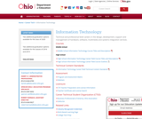 Ohio Department of Education Office of Career Technical Education Information Technology Webpage