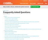 Frequently Asked Questions About Creative Commons Lisc. and Copyright