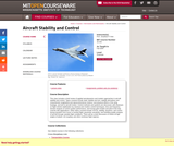 Aircraft Stability and Control, Fall 2004