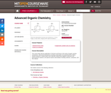 Advanced Organic Chemistry, Spring 2007