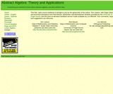 Abstract Algebra: Theory and Applications
