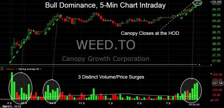 Canopy Growth Corp Tse Weed Leads Surge Higher In Cannabis Stocks