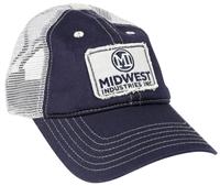 Blue and White Trucker Mesh Hat