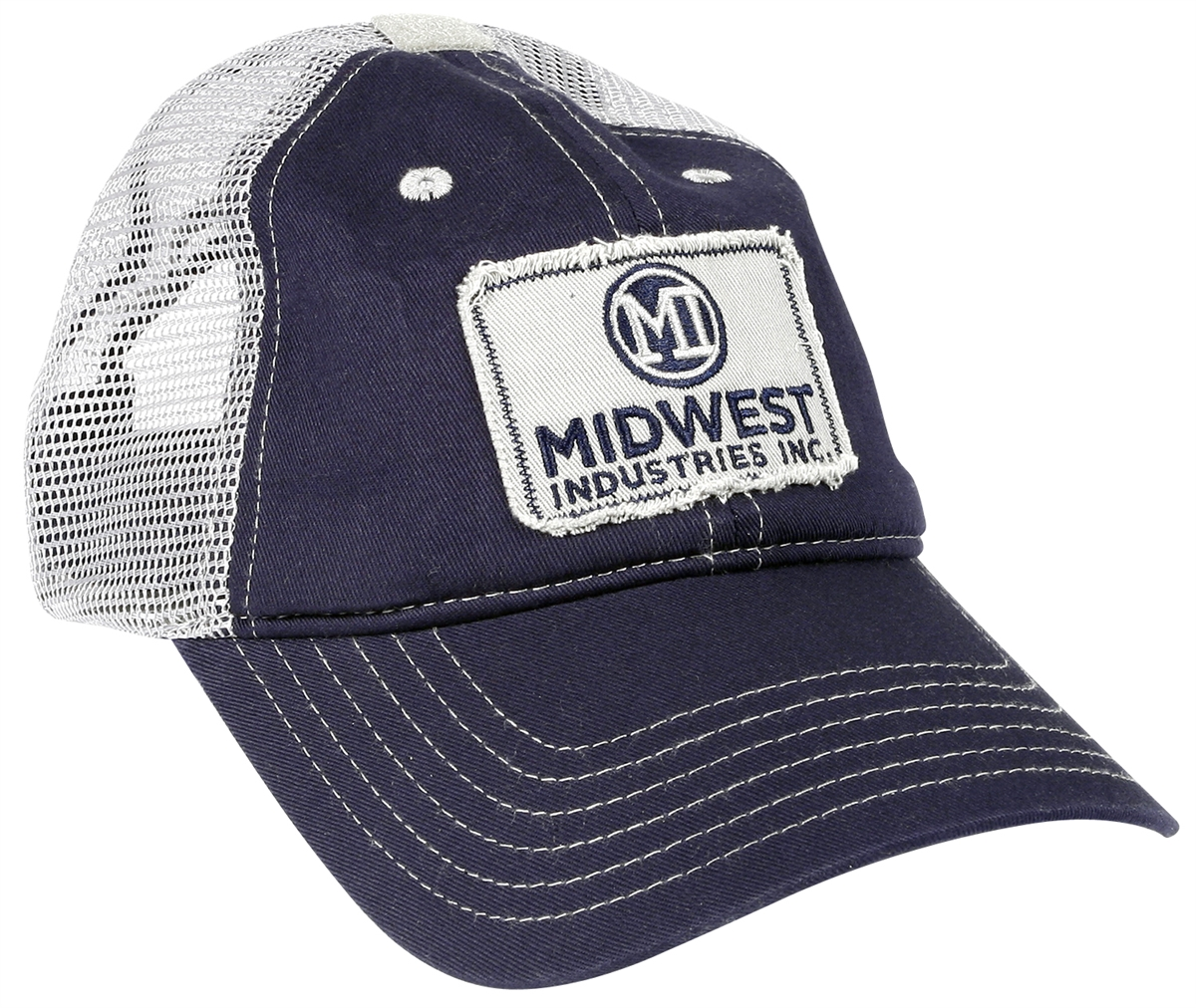 Blue and White Trucker Mesh Hat bb4981aa0d5
