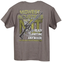 MI Mens T-Shirt, Ready Anytime Anywhere, Dark Gray