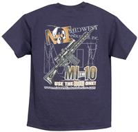 MI Mens T-Shirt, Blue Use the Big One